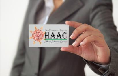 Photo of HAAC business card