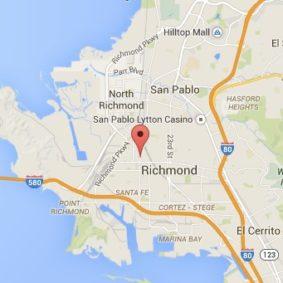 Map of Richmond area